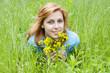 tender girl in the grass