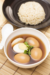 """Thai food called """"Kai Palo"""" or """"Pa-Lo"""", eggs boiled in the gravy"""