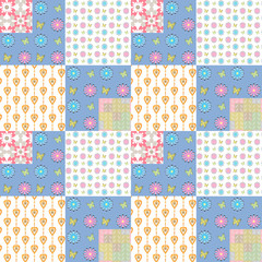 Patchwork seamless pattern geometric background