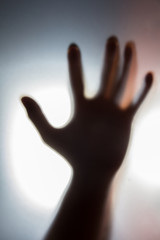 Shadow of human hand,ghost and crime concept.