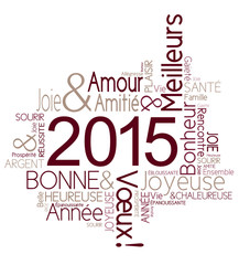 Carte de voeux 2015 joyeuse