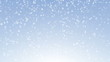 Snow falling animation on light blue gradient background