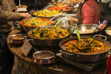 Traditional food exposed in Camden Town