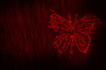butterfly blood texture background