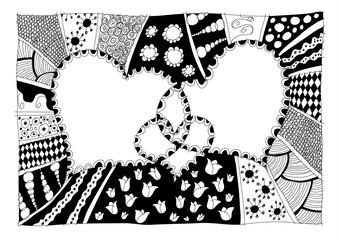 Abstract heart drawing