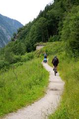 Fahrradfahrer im Zillertal