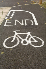 Cycle lane end symbol