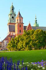 Architectural complex Wawel in Krakow, Poland.