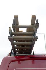 Ladders on van roof
