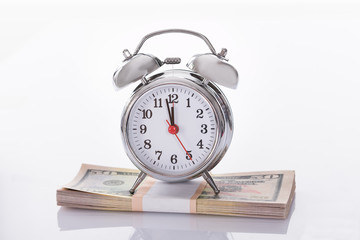 Alarm Clock on US Dollars