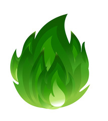 Green fire icon