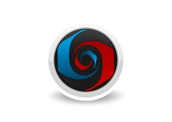 Abstract circle color digital icon modren symbol vector.zip
