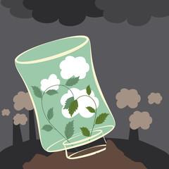 Plants clean the air