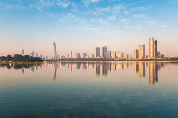 nanjing xuanwu lake of beautiful scenery