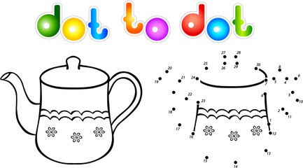 Teapot second dot to dot coloring book