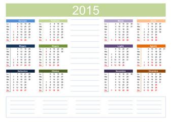 CALENDARIO PLANNER 2015 CALENDARIETTO