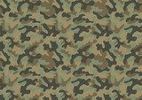 Camouflage seamless pattern poster
