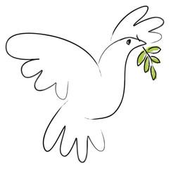 Colombe de la paix - Olivier