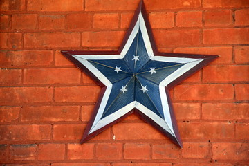Americana star on brick