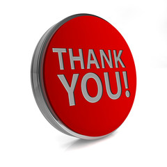 Thank you circular icon on white background