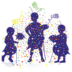 kids confetti party carneval