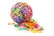 colorful wonder loom band rubber ball isolated on white - 71727957