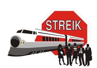 Eisenbahn - Lokführerstreik
