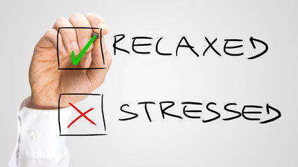 Check Box with Relaxed and Stressed Choices