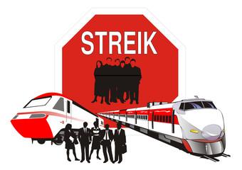 Streik - Eisenbahn - Lokführer