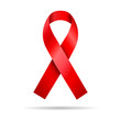 isolated red ribbon symbol aids - 71728125