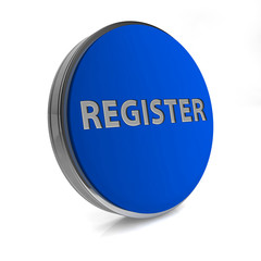 register circular button on white background