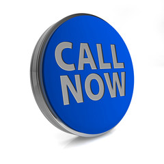 call now circular icon on white background