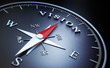 Leinwanddruck Bild - Kompass - Vision