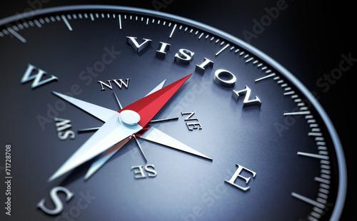 Leinwanddruck Bild Kompass - Vision