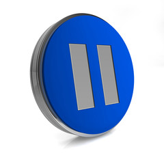 pause circular icon on white background