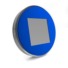 stop circular icon on white background