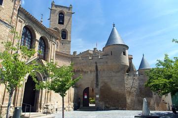 View of Olite castle in Navarre,Spain