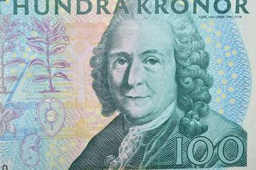 Carl von Linne swdish  botanist  banknote