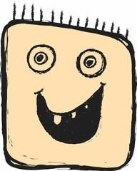 doodle style smiley halloween, happy icon