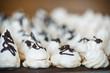 classic sweet meringue with chocolate