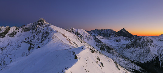 Night mountain - Tatras at winter
