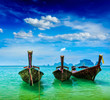 Long tail boats on beach, Thailand - 71729736