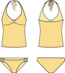 Vector illustration of women's swimsuit