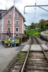Railway crossing in Wadenswil, Switzerland