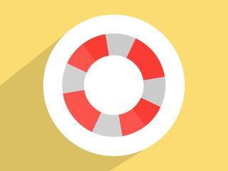 Lifebuoy  ,Flat design style