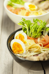 Traditional japaneese noodle soup