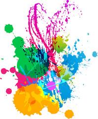 funny splatters color background