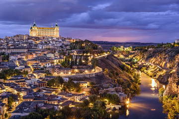 Toledo, Spain Town Skyline on the Tagus River