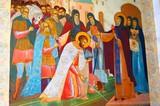 Religious icon in Trinity Sergius Lavra poster