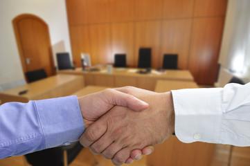 Einigung zum Vergleich vor Gericht